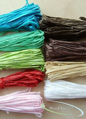 Paper Raffia craft wedding invitation favour gift wrapping twine ribbon art