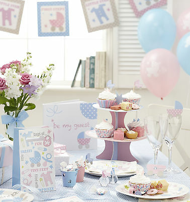 TINY FEET - Party Supplies,Decorations Tableware Games Pink Blue Unisex Boy Girl