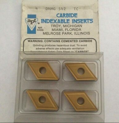 APT DNMG 542 TC Carbide Indexable Inserts 4 Pcs Lathe Turning Mill Tools Gold