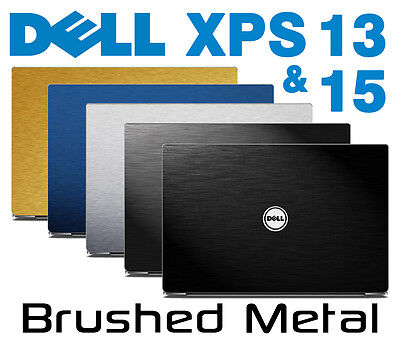Brushed Metal Skin Kit Dell XPS 13 15 9343 9350 9360 9550 Protector Sticker Wrap