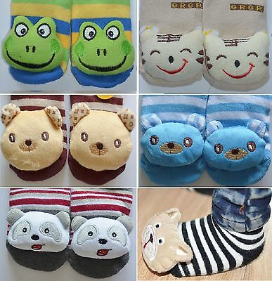 New Fun Baby Boy Anti-slip Walking Socks with Toys Size: 0-2, 2-4 years