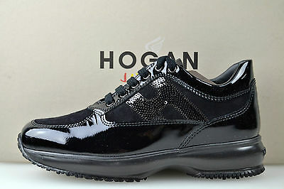 Hogan Junior Interactive Scarpa Sneaker Bambina-Girl Shoes Nero-Black