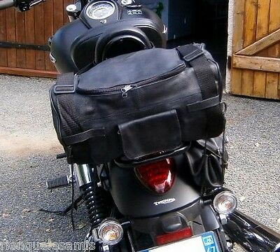 Sac sissi bar en Cuir de vachette Souple custom leather sissy bar bag