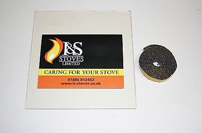 Morso Stove Replacement Glass with FREE Seal/Gasket - All Models