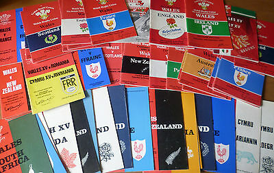 1970-91 - Wales Home Rugby Union Programmes