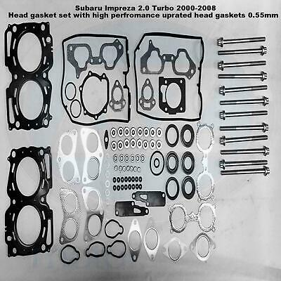For Impreza 2.0 Turbo 2000- MLS performance uprated head gasket bolts set kit