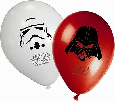 "8 x Star Wars Birthday Party Decoration 11"" Assorted Latex Balloons"