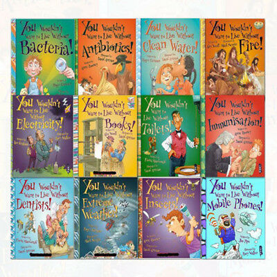 You Wouldn't Want to Live Without Series Collection 12 Books  Children Set,