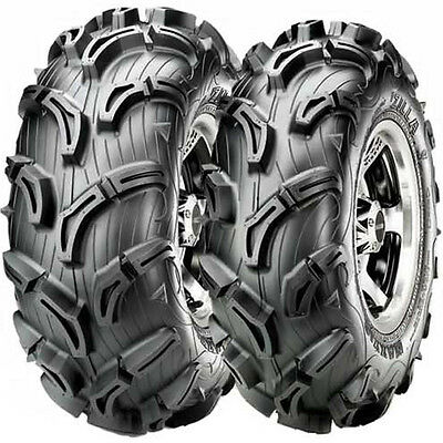 New Set Of 4 Maxxis Zilla Atv Utv Tires Mud  28X10-12 Front And 28X12-12 Rear