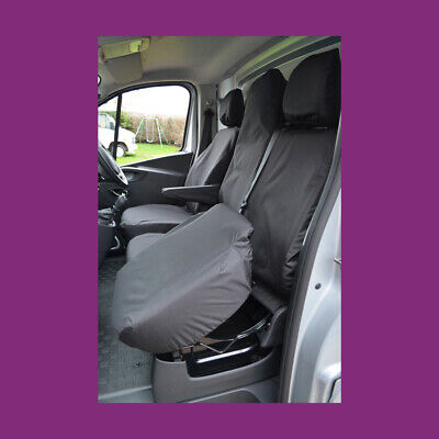 Vauxhall Vivaro Sportive 2014-2019 Tailored Waterproof Black Front Seat Covers