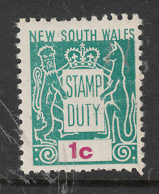 NEW SOUTH WALES 1c Stamp Duty MINT UNHINGED