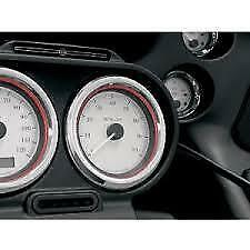 Kuryakyn Gauge Bezels; Small; FLH'86up Fits; Volt; Oil; Air & Fuel Gauges (Pair)