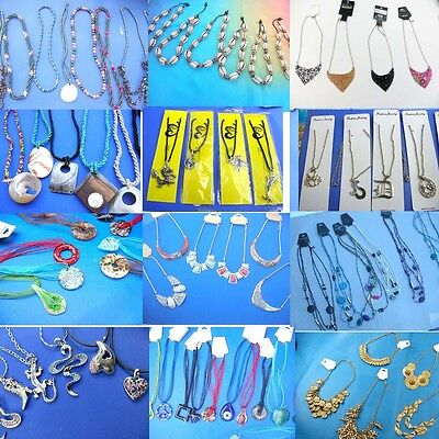 US SELLER- 50 cents/per necklace, lot of 100 necklaces wholesale jewelry lot