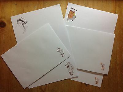 Mr Badger letter writing paper & envelopes stationery - Fun & cute set