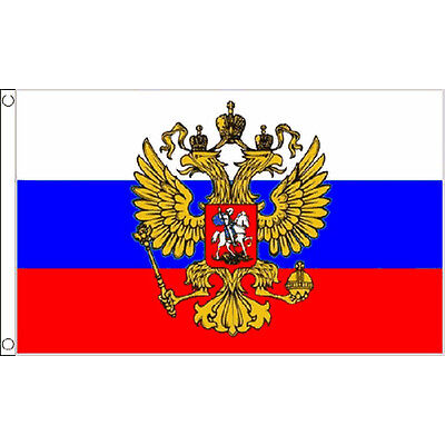 Russia (Eagle) Flag 5Ft X 3Ft Ussr Russian Banner With 2 Eyelets New