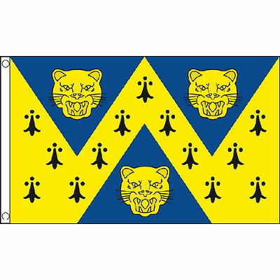 Shropshire New Flag 5Ft X 3Ft English County Banner With 2 Eyelets New
