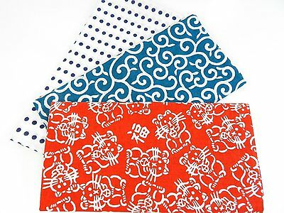 Japanese traditional towel TENUGUI  COTTON NEW 3 SET MADE IN JAPAN