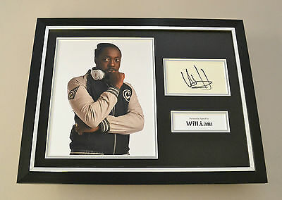 Will.i.am Signed Framed 16x12 Photo Autograph Display Black Eyed Peas + COA