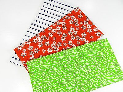 Japanese traditional towel TENUGUI  COTTON NEW 3 SET (8) MADE IN JAPAN