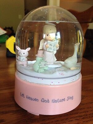 Precious Moments Christmas Water Globe 1991