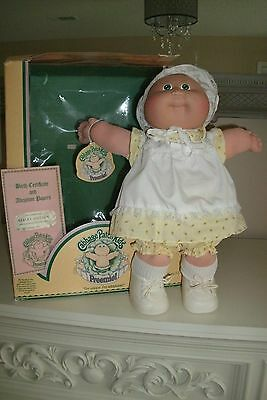 Original 1983 Coleco Cabbage Patch Kid Preemie Doll With Box & Adoption Papers