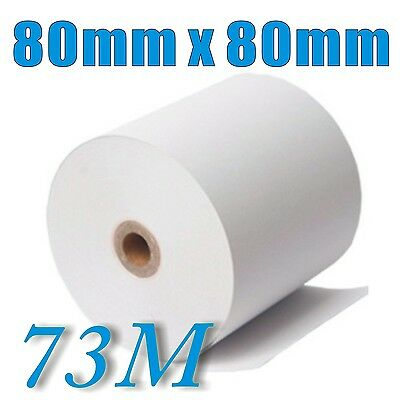 55 Rolls 80x80mm Thermal Paper Cash Register Receipt Roll for Docket Printers