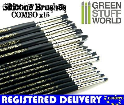 Colour Shapers COMBO 15 brushes - Sizes #0, #2 and #6 - BLACK FIRM - Clay shaper