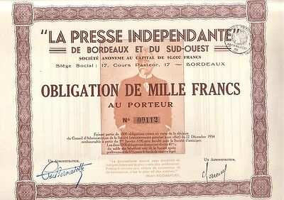 La Presse Independante 1934 Bordeaux DEKO