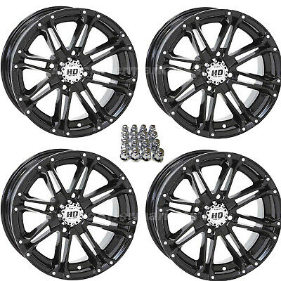 STI HD3 Black ATV / UTV Wheels Rims for Suzuki King Quad IRS