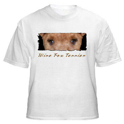 "Wire  Fox Terrier  "" The Eyes  Have It  "" Custom   T shirt"