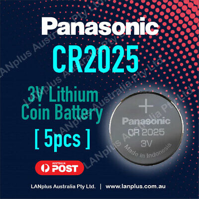 5 x Panasonic CR2025 3V Lithium Battery Button Coin Cell 4 Alarm Key DL2025