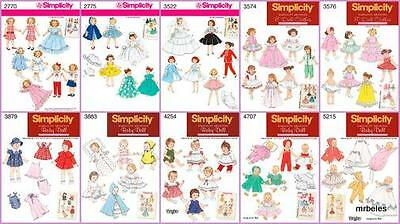 Vintage Retro Doll Clothes Simplicity Sewing Pattern OOP From Archives You Pick
