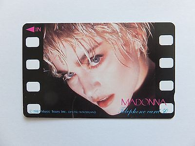 Madonna 1987 MUSIC TOURS in Japan RARE Telephone phone card
