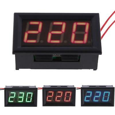Mini AC 60-500V 3-Digital LED Voltmeter Panel Display Voltage Meter w/ 2 Wires