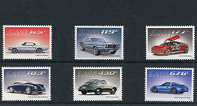 Curacao 2014 MNH Classic Cars Ford Mustang & Porsche 6v Set Motoring