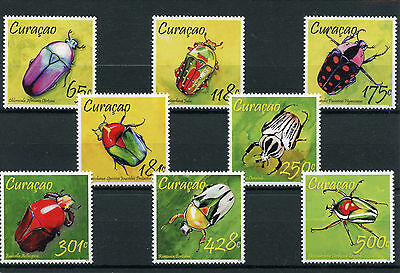 Curacao 2013 MNH Beetles 8v Set Insects Fauna