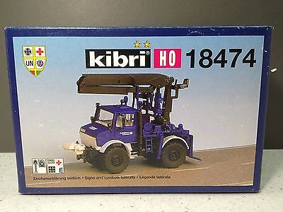 HO 1/87 Kibri # 18474 Unimog Crane and accessories Kit