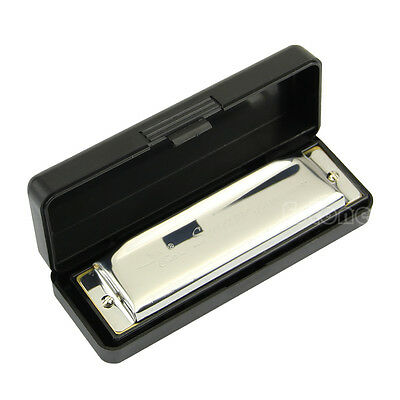 New Special Swan Harmonica 10 Holes Key Of C Silver w/ Case For Beginner