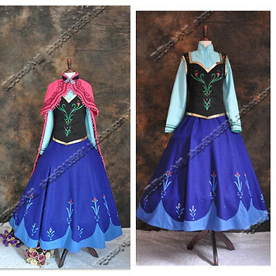 frozen Movie set Anna princess Halloween Party costume cosplay for adult