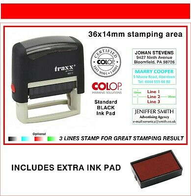 Traxx Self Inking Rubber Stamp 9011   SOCIAL MEDIA TEXT SYMBOLS LOGOS VIEW LIKE