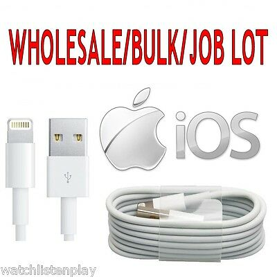 Wholesale Bulk Job Lot Lightning USB iOS 12 Data Cable Lead iPhone X 8 7s 6s 5