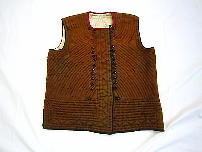 Antique  Bulgaria Hand Embroidered Jacket Folk costume Vest Braided