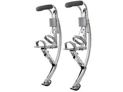 Men Kangaroo Bouncing Shoes Jumping Stilts FitnessExercise 155-200lbs Silver