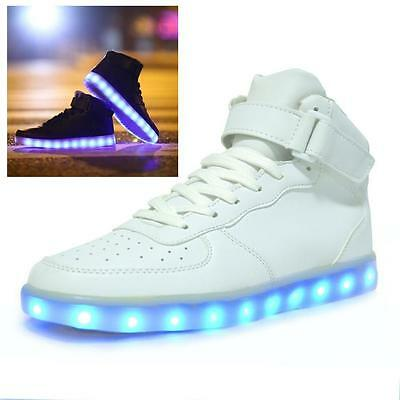 LED Night Light Shoes Trainer Men Women Lovers Lace Up Flash Glowing Sneakers