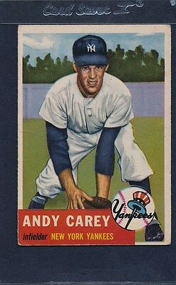 1953 Topps #188 Andy Carey Yankees Fair 53T188-41515-5