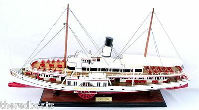 Stadt Luzern Paddle Steam Boat - Handmade Wooden Ship Model NEW