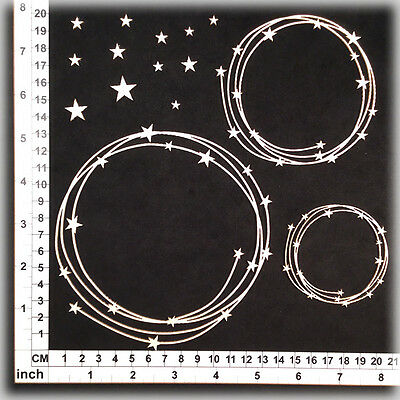 Chipboard Embellishments for Scrapbooking, Cardmaking - String Circles 25138w