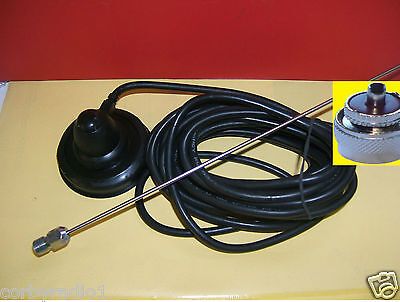 TAXI 70mm MAGNETHALTERUNG ANTENNE KOMPLETT MIT PL259 VHF/Taxi BAND ICOM MAG 8