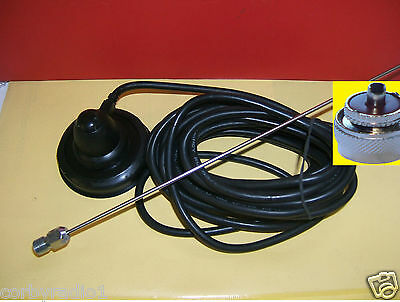 TAXI 70mm SUPPORTO MAGNETICO ANTENNA COMPLETO CON PL259 VHF/taxi BAND ICOM MAG 8
