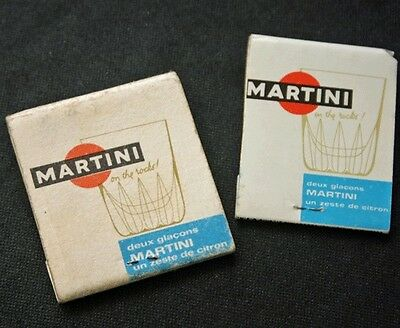 CGT French Line SS FRANCE 2 Books of Matches Martini Adv